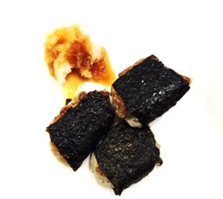 12月8日のごはん 500円以内 鯵のなめろう磯辺焼き かぶのポタージュ 春菊と蒸し鶏の和え物