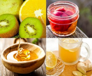 黄砂 花粉症 風邪などの咳 鼻 頭痛等に効果的 はちみつ 梅 生姜紅茶 果物を集中的に摂った結果